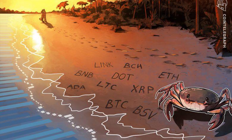 تحليل الأسعار 10/16: BTC ، ETH ، XRP ، BCH ، BNB ، LINK ، DOT ، ADA ، LTC ، BSV