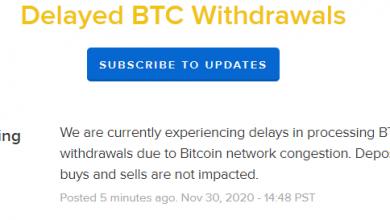 صورة تقارير Coinbase تأخيرات في معالجة عمليات سحب البيتكوين بسبب ازدحام الشبكة